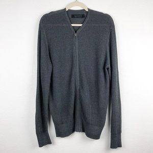 All Saint Knit Zip Up Cardigan Size Medium